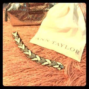 Ann Taylor White & Diamond Bracelet